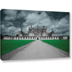ArtWall Revolver Ocelot Castle Gallery-Wrapped Canvas, Size: 24 x 32, White