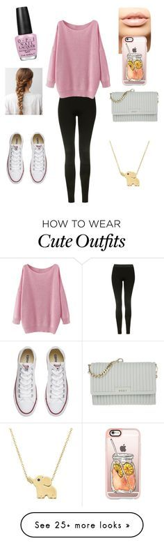 """Babysitting Outfit"" by annamarie316 on Polyvore featuring Topshop, Converse, DKNY, MDMflow, Casetify and OPI"