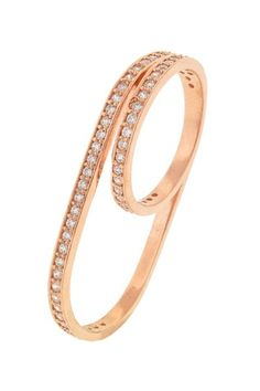 Pave CZ Wraparound Two-Finger Ring by Lucky Charms on @HauteLook
