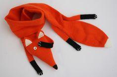 Fox scarf kids  Kids Red Fox scarf  Faux Fox by TreMelarance