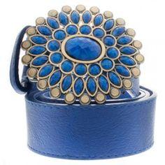 Cinto Azul com Pedrarias