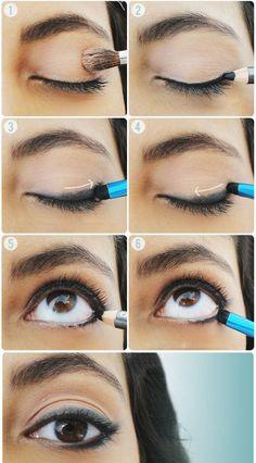 Smudged Eyeliner Look Using Eyeshadow and Eye Pencil | Makeup Mania