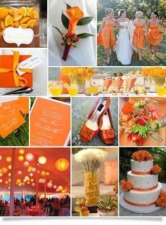 {Ooh La La Orange} Wedding Inspiration | Principles in Action Wedding Blog