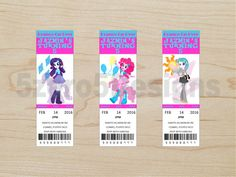 12 Equestria Girls Lip Gloss Balm My Little Pony Birthday Party