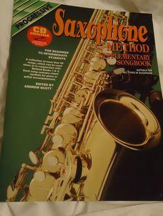 Progressive Saxophone Method Supplementary Songbook With CD NEW NEVER READ!!