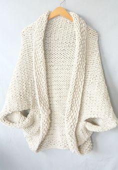 Knit Cocoon Shrug Pattern