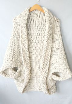 Knit Cocoon Shrug Pattern