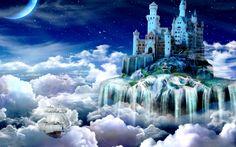 Beautiful Fantasy Castle Fantasy landscape Fantasy castle Castle in the sky