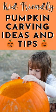 Kids love to carve pumpkins – but it can be a bit non-kid friendly at times. Here are some of the best ideas for pumpkin carving for kids and toddlers! Halloween Activities, Halloween Kids, Halloween Pumpkins, Halloween Crafts, Halloween Costumes, Infant Activities, Activities For Kids, Motor Activities, Baby Food Combinations