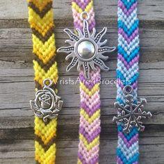 Disney Princess Inspired Friendship Bracelets With Charms - Rapunzel, Belle, and Elsa