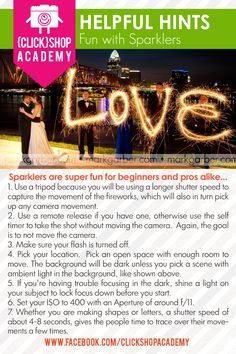 Fun with sparklers from www.facebook.com/ClickshopAcademy #Fireworks #photography #sparklers #tricks