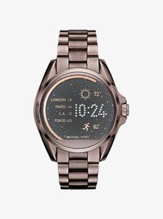 Introducing Michael Kors Access—a smartwatch that seamlessly fuses fashion and technology. Powered by Android Wear™, this innovative design is equipped with multiple animated display faces, fitness tracking, text and email alerts. Consider it the chicest way to do tech.