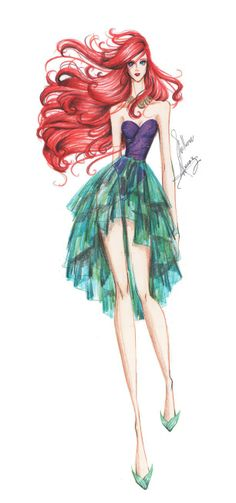 Ariel || Disney Characters As Haute Couture Skiny Super Models