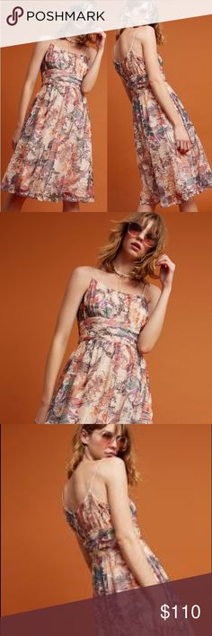"""anthropologie // floral fit-and-flare dress NWT Maeve floral fit-and-flare dress from Anthropologie. Side zip, 35"""" from shoulder to hem. Perfect to dress up or down and can be worn in any season! Just add tights, booties, and a chunky cardigan for the ideal girly fall look! Anthropologie Dresses"""