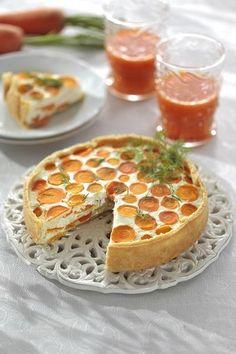 Пирог с молодой морковью