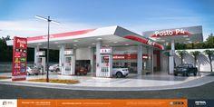 imagens de posto de gasolina em 3D Santos SP