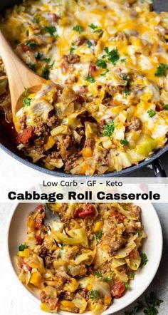 This Low Carb Unstuffed Cabbage Casserole Recipe is a great family dinner idea. Keto , , This Low Carb Unstuffed Cabbage Casserole Recipe is a great family dinner idea. This Low Carb Unstuffed Cabbage Casserole Recipe is a great family. Cabbage Roll Casserole, Chicken Casserole, Loaded Cauliflower Casserole, Vegetable Casserole, Cauliflower Soup, Plats Healthy, Cena Keto, Low Carb Casseroles, Easy Casserole Recipes