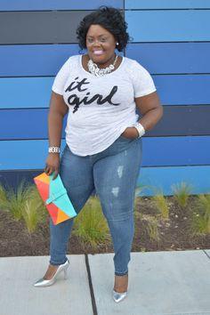 It Girl Tee - $26.90  The Boyfriend Jeans - $42.90