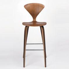 Cherner Chair Wood Base Stool - Bar modern bar stools and counter stools