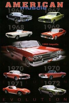 #CarEnthusiasts - Amazing American Muscle Collage! Want this poster on your wall for just $5.99??? Hit the image...