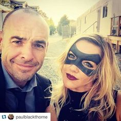 Paul Blackthorne & Katie Cassidy on the set of #Arrow