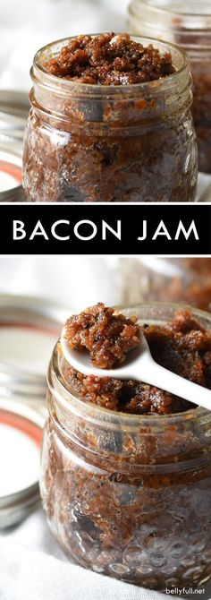 Bacon Jam is the ultimate spread for toast, eggs, sandwiches, and burgers! Also makes a great gift for the bacon lover! Come and see our new website at bakedcomfortfood.com!