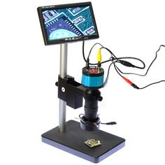 "2.0MP HD 2in1 Industry Digital Microscope Camera + 7"" LCD Monitor + Stand Holder + C-Mount Lens + 40 LED Ring Right - FREE SHIPPING"