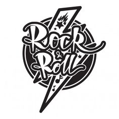 Rock and roll lettering Premium Vector Rock N Roll Baby, Rock And Roll Sign, Rock And Roll Tattoo, Rock Tattoo, Janis Joplin, Foo Fighters, Heavy Metal Bands, Art And Illustration, Rolling Stones