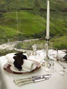 Dining on The Royal Scotsman #train