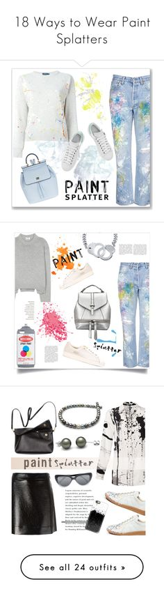 """18 Ways to Wear Paint Splatters"" by polyvore-editorial ❤ liked on Polyvore featuring paintsplatter, waystowear, Polo Ralph Lauren, Rialto Jean Project, Dolce&Gabbana, adidas, Acne Studios, adidas Originals, BERRICLE and Moschino"