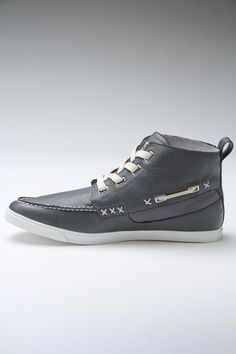 High top boat shoe