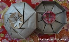 Tuto de ma boîte en Origami! /Origami box tutorial! *** pdf - diagram
