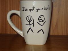 I've got your back by dirtydishes on Etsy, $10.99                                                                                                                                                                                 More
