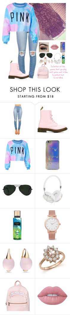 """""""This is bad but oh well"""" by tttatummm ❤ liked on Polyvore featuring Dr. Martens, Ray-Ban, Frends, Larsson & Jennings, Pomellato, Bloomingdale's, Sugarbaby and Lime Crime"""