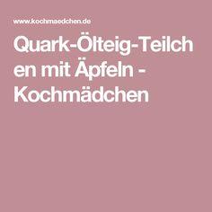 Quark-Ölteig-Teilchen mit Äpfeln - Kochmädchen