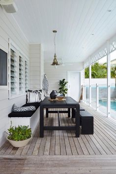 Beautiful poolside outdoor dining room on the covered porch. Beautiful poolside outdoor dining room on the covered porch. The post Beautiful poolside outdoor dining room on the covered porch. appeared first on Outdoor Diy. Outdoor Areas, Outdoor Rooms, Outdoor Decor, Outdoor Patios, Indoor Outdoor, Outdoor Kitchens, Outdoor Tables, Outdoor Laundry Area, Outdoor Deck Decorating