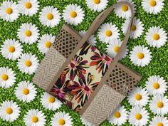 Bolso shopper con detalles troquelados y estampado floral de FOR TIME