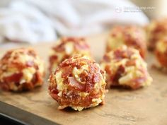 """Low Carb Fat Bombs Keto Paleo Bacon & Egg Fat Bombs """"2 large eggs, free-range or organic ¼ cup butter or ghee, softened at room temperature - you can make your own ghee (55 g / 2 oz) 2 tbsp mayonnaise (you can make your own) freshly ground black pepper ¼ tsp salt or more to taste (I like pink Himalayan) 4 large slices bacon (120 g / 4.2 oz)"""""""