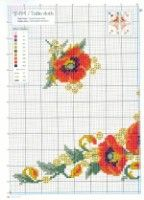 images attach b 4 104 493 Cross Stitch Embroidery, Cross Stitch Patterns, Cross Stitch Flowers, Table Toppers, Handicraft, Pot Holders, Poppies, Tapestry, Knitting