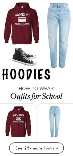 """•"" by llancafilpriscila14 on Polyvore featuring Converse and Hoodies"