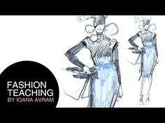 How to draw a fashion sketch step by step for beginners - YouTube