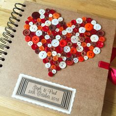 Autumn colour scheme wedding guest book