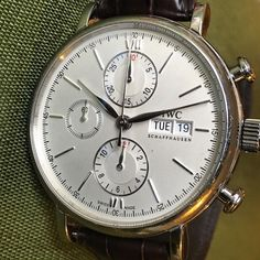 Classy IWC #iwc #portofino #chronograph #forsale #thewatchobserver #patina #paris #watches #watchesofinstagram #instagood
