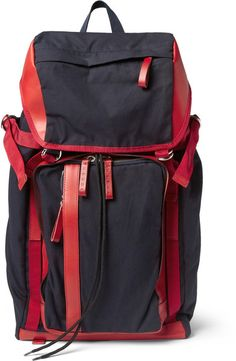 4fd7374e82 Marni - Red Leathertrimmed Canvas Backpack for Men - Lyst