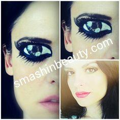 Cartoon Eyes Face Painting Halloween Makeup
