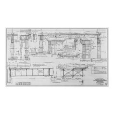 Ptm images empire state building blueprint wall art empire state old oakland bay bridge blueprint 1935 poster decor gifts diy home living cyo giftidea malvernweather Image collections