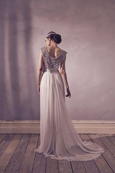 Anna Campbell Bridal Giselle Dress   Vintage-inspired embellished wedding dress
