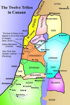map of canaan 12 tribes | The 12 Tribes in Canaan | God's Hebrew Langauge