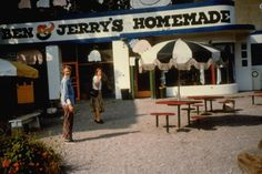 Ben and Jerry opened their first Ben & Jerry's Homemade ice cream scoop shop in a renovated gas station at the corner of St. Paul and College Streets in downtown Burlington, Vermont, on May 5, 1978.
