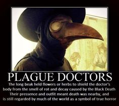 I don't know why, but I really like plague doctor outfits. They're not even scary to me, I just think they look cool. Creepy Facts, Wtf Fun Facts, Creepy Things, Creepy Stuff, Creepy Dude, Uber Facts, Random Facts, True Facts, Random Things